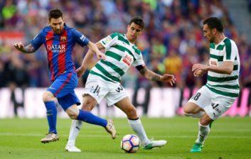عملکردمسی بازیکن بارسلونا در دیدار برابرایبار