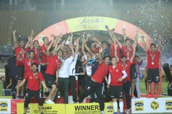 مراسم اهدای کاپ قهرمانی جام حذفی به تیم نفت تهران
