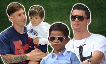 لحظات دیدنی ستاره های فوتبال با بچه هایشان