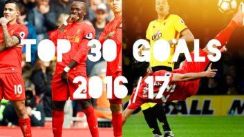 30 گل برتر لیورپول 2016/2017