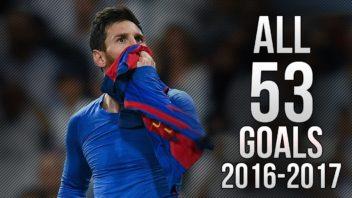53 گل مسی برای بارسلونا 2016/2017