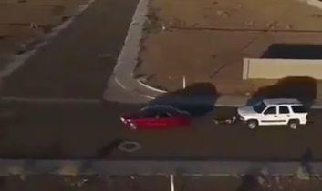 روش عجیب تعقیب و گریز در خیابان توسط پلیس