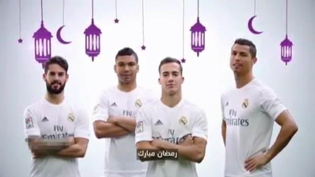 فیلم ؛ تبریک گفتن بازیکنان رئال مادرید به مناسبت ماه مبارک رمضان
