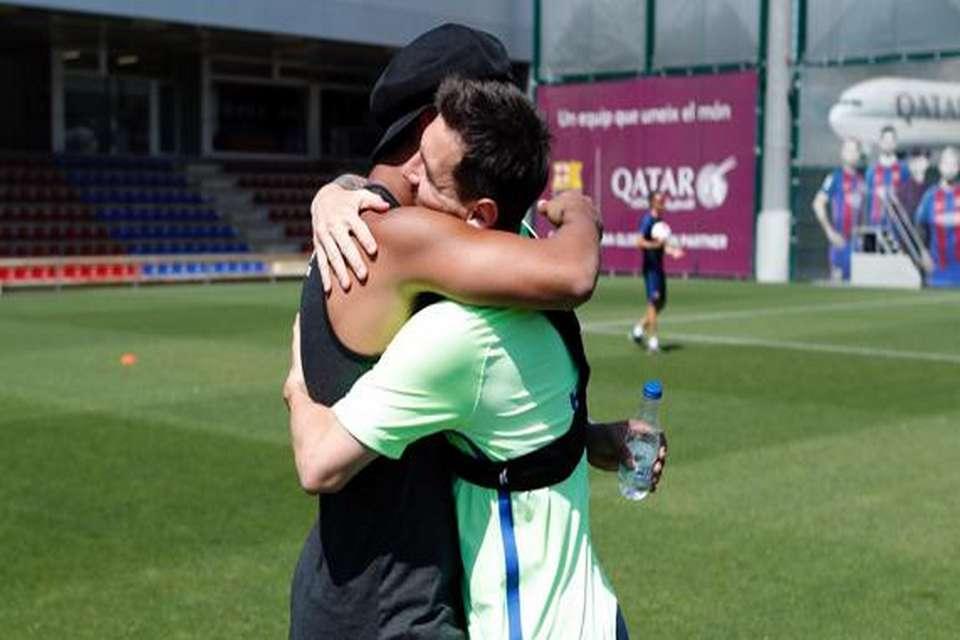 رونالدینیو امروز در تمرینات تیم بارسلونا حضور یافت