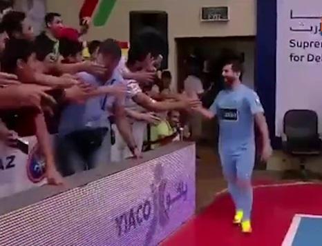 استقبال فوق العاده از رضا پرستش بدل ایرانی مسی در تورنومنت کویت