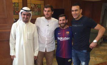 دیدار مسی ایرانی با اسطوره ی باشگاه رئال مادرید ایکر کاسیاس
