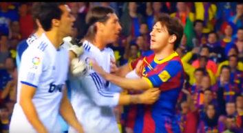 درگیری های مسی ستاره بارسلونا در فوتبال