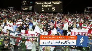 شکست 5 بر 1 آلمان برابر انگلیس