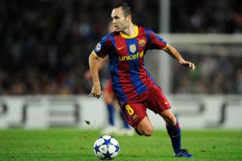 اینیستا کاپیتان بارسلونا در جام رمضان
