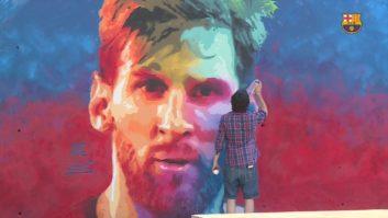 تصویر گرافیکی تماشایی از مسی ستاره بارسلونا