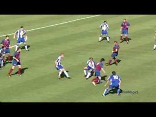 نبوغ مسی ستاره بارسلونا در 14 سالگی
