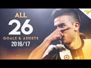 26 گل و پاس گل دیبال یوونتوس 2016/2017