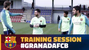 مهارت های مسی ،سوارز و نیمار در تمرینات بارسلونا