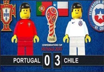 شبیه سازی بازی پرتغال برابر شیلی با لگو
