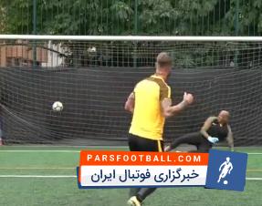 چالش پنالتی سرخیو راموس مهاجم ستاره رئال مادرید در چمن مصنوعی