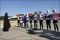 لباس ورزش سه گانه بانوان ایرانی
