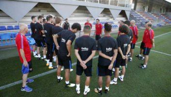 اولین تمرین بارسلونا برای فصل جدید زیر نظر والورده