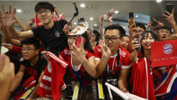 حواشی بایرن مونیخ در شانگهای چین