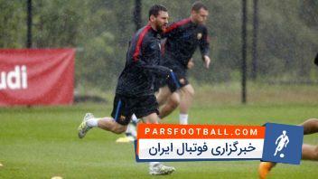 تمرینات تیم فوتبال بارسلونا