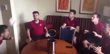 چالش جالب بازیکنان تیم ملی پرتغال