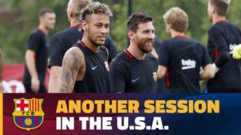 استقبال از بازیکنان بارسلونا در آمریکا