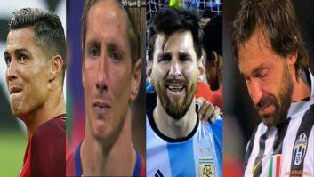 گریه کردن ستاره های فوتبال