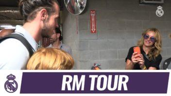 دیدار جولیا رابرتسون با بازیکنان رئال مادرید