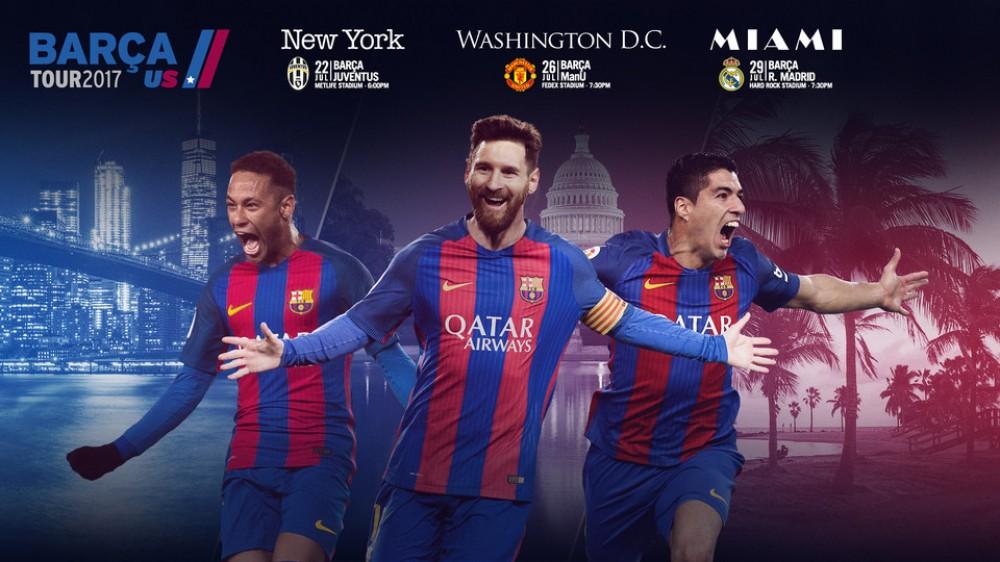 مراحل آماده سازی اتوبوس جدید بارسلونا برای تور پیش فصل در آمریکا