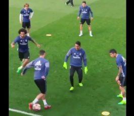 تکنیک جالب رونالدو در تمرینات رئال مادرید!