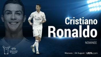 کریستیانو رونالدو ، کاندیدای بهترین بازیکن اروپا