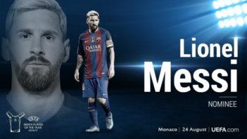 لیونل مسی ، کاندیدای بهترین بازیکن اروپا