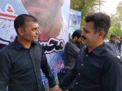 دیدار ویسی و پورموسوی در مراسم شهید حججی