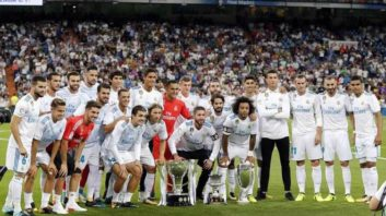 اهدای جام قهرمانی به رئال مادرید