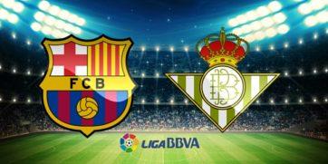 کلیپی از خلاصه دیدار تیم های بارسلونا و رئال بتیس