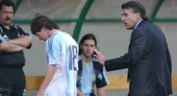 اولین حضور مسی در تیم ملی آرژانتین