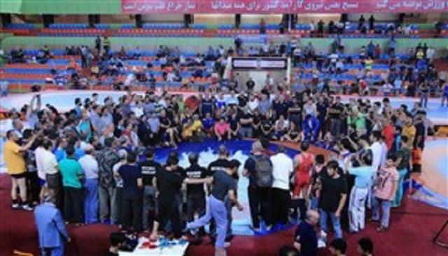 حبیب مقصودی ؛ پاسخ حبیب مقصودی به کمبود امکانات پزشکی در سالن کشتی تبریز