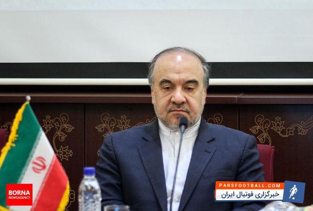 مسعود سلطانی فر در افتتاحیه استخر شهید حججی حاضر شده بود