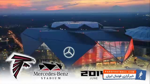 تایم لپس زیبا از مراحل ساخت استادیوم مرسدس بنز در آمریکا ؛ پارس فوتبال