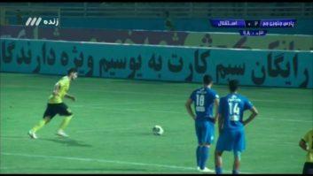 گل دوم تیم فوتبال پارس جنوبی جم به استقلال تهران