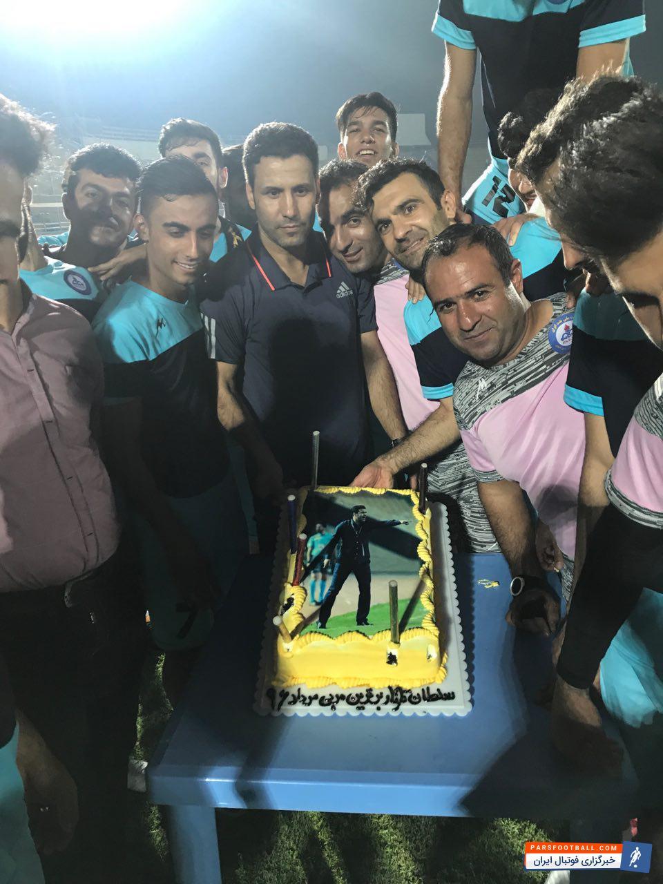 کیک برای تارتار در تمرینات پارس جنوبی