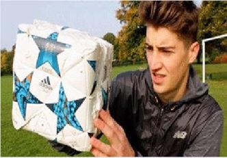 اگر توپ فوتبال مکعبی بود !