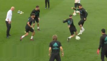 کلیپی از حرکت تکنیکی رونالدو در تمرینات رئال مادرید