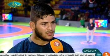 رقابت لیگ کشتی استان تهران