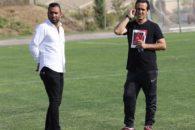 تمرین تیم فوتبال نفت طلاییه - علی کریمی - سیاوش اکبرپور