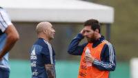 دیدار مسی و سمپائولی در بارسلونا