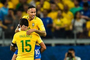نیمار و پائولینیو در اردوی تیم ملی برزیل