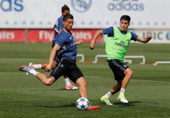 زیدان ترین های رئال مادرید در تمرینات