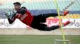 بیرانوند دروازه بان تیم فوتبال پرسپولیس برای علیرضا حقیقی کری خوانی انجام داد