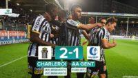 تیم شارلوآ با نتیجه 2 بر 1 توانست بر تیم فوتبال خنت غلبه کند و به رده دوم جدول صعود کند