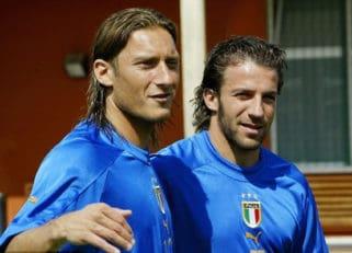 توتی و دل پیرو دو اسطوره تیم ملی فوتبال ایتالیا دیشب را باهم سپری کردند